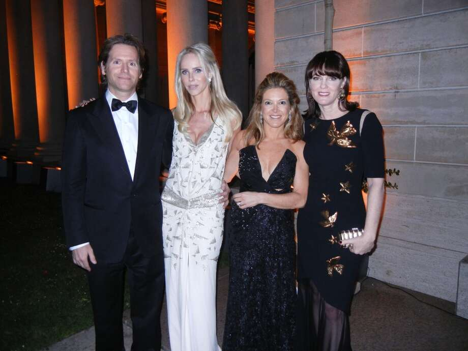 Fine Arts Museums Trustee Trevor Traina (at left) with his Mid-Winter Gala co-chairs Vanessa Getty, Kathryn Lasater and Allison Speer at the California Palace of the Legion of Honor. Photo: Catherine Bigelow