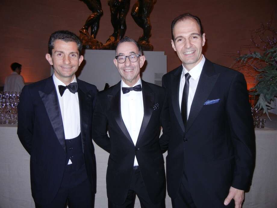 Ferragamo scion Diego Di San Giuliano (at left) with FAM Director Colin Bailey and Ferragamo U.S.A. CEO Vincent Ottomanelli at the Legion of Honor. Photo: Catherine Bigelow