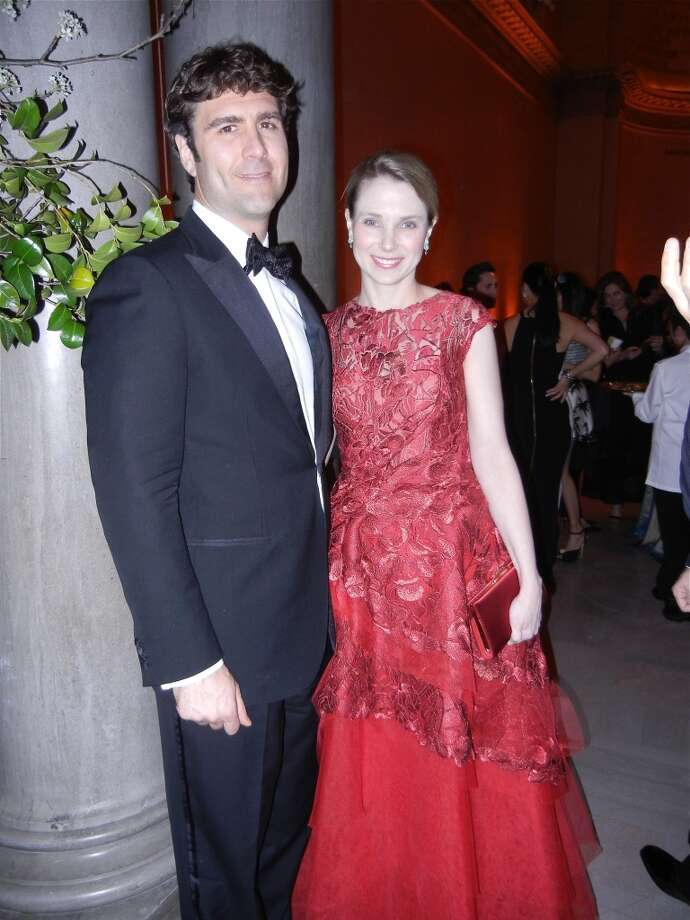 FAM Trustee Zachary Bogue and his wife, Yahoo CEO Marissa Mayer at the Mid-Winter Gala. Photo: Catherine Bigelow