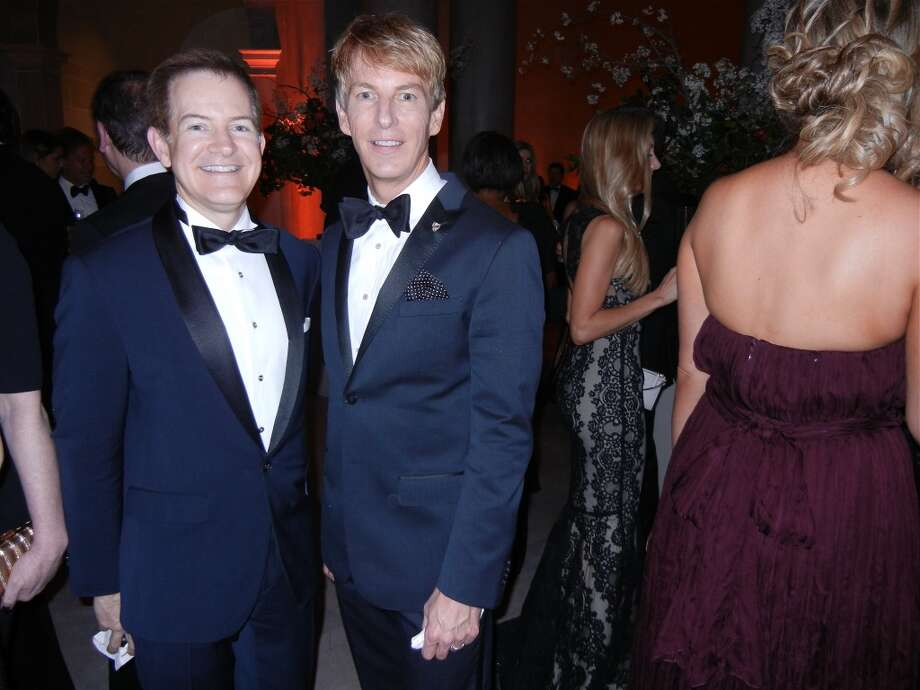 Trent Norris (at left) with his husband, Banana Republic President Jack Calhoun at the Mid-Winter Gala. Photo: Catherine Bigelow