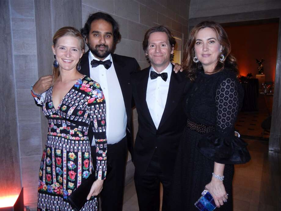 Alicia Engstrom (at left) with her husband, Jawbone founder Hosain Rahman and Trevor and Alexis Traina at the Mid-Winter Gala. Photo: Catherine Bigelow