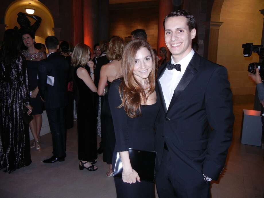 Stephanie Unger and her fiance,  Maxx Traina at the Mid-Winter Gala. Photo: Catherine Bigelow