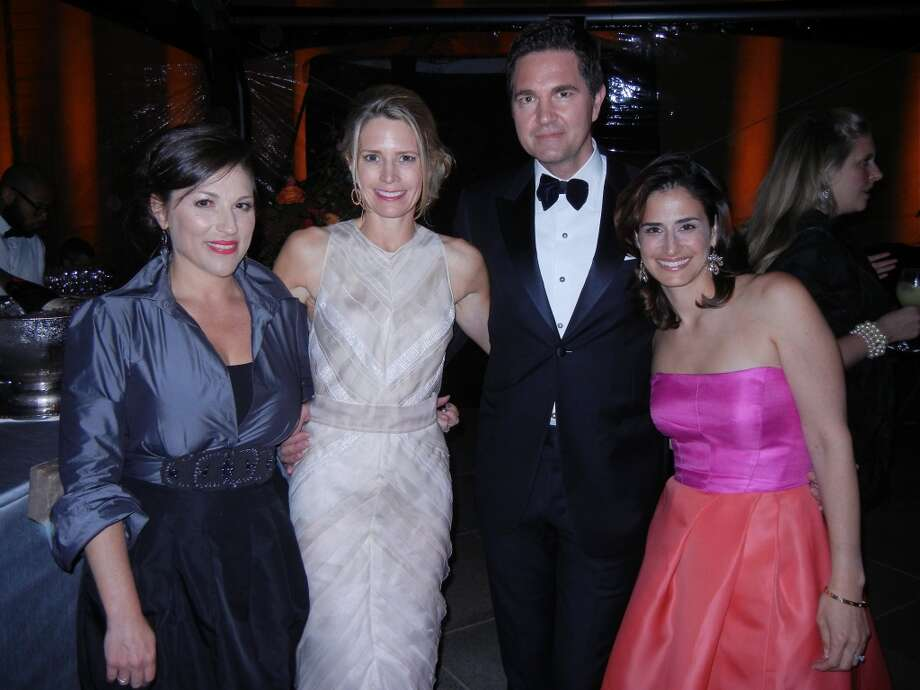 Maya Segal (at left) with Ann-Ferrell Millham, Alex Chases and Amy McKnight at the Mid-Winter Gala. Photo: Catherine Bigelow