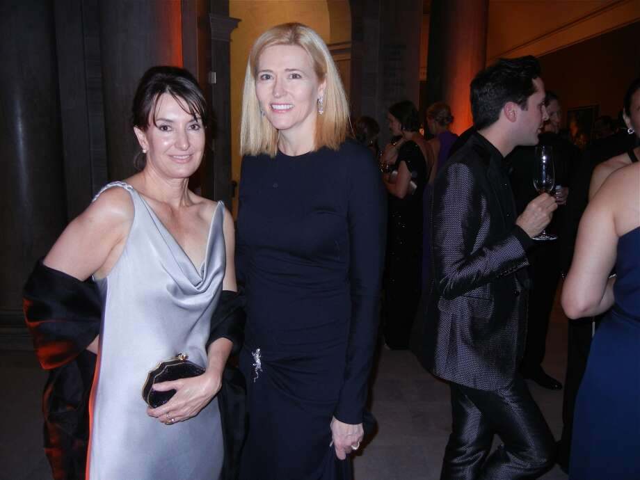 Serena Fritz-Cope (at left) and Lauren Hall at the Mid-Winter Gala. Photo: Catherine Bigelow