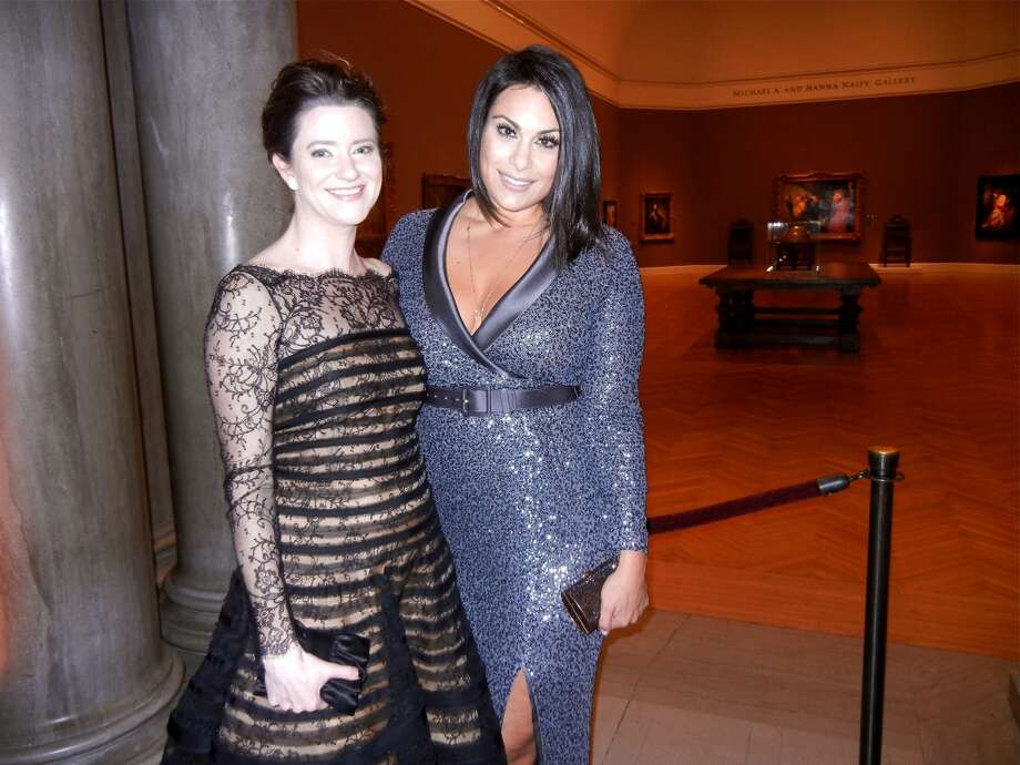 Kristen Strobel (at left) and Libby Leffler at the Mid-Winter Gala. Photo: Catherine Bigelow