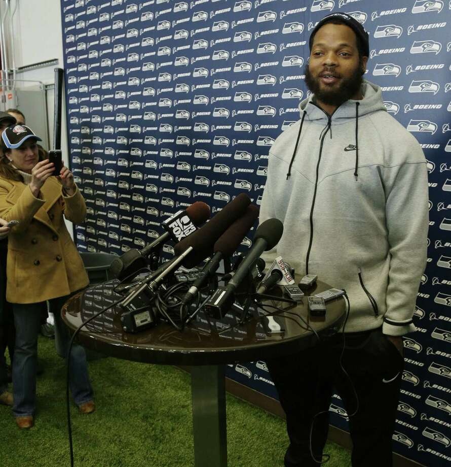 Michael Bennett had a breakout season with the Seahawks, amassing 81/2 sacks and showing versatility with his play at defensive end and defensive tackle. Photo: Ted S. Warren / Associated Press / AP