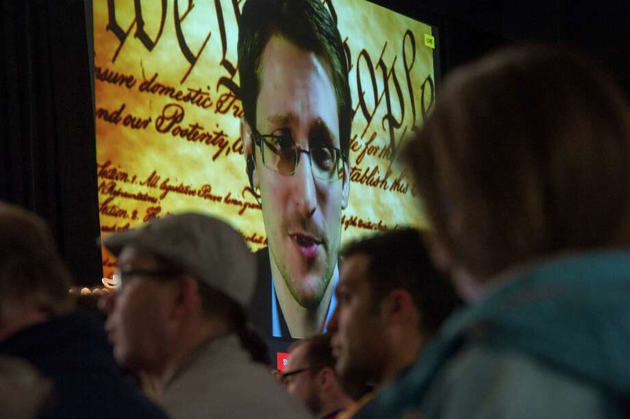 """Edward Snowden, the former National Security Agency contractor who leaked U.S. secrets, said the U.S. got """"nothing"""" of substance from its bulk collection of data. Photo: David Paul Morris / © 2014 Bloomberg Finance LP"""