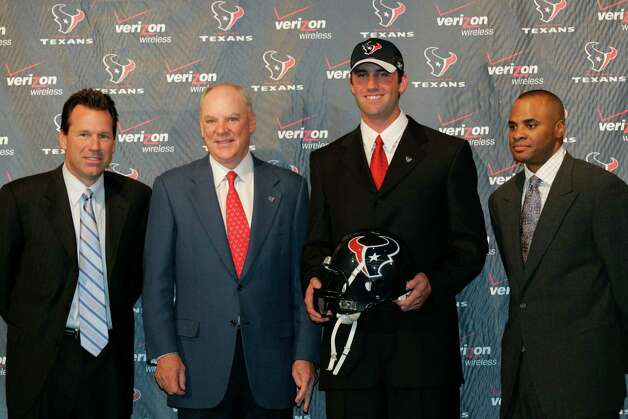 The Texans acquired Schaub from the Falcons in a trade in March 2007. Photo: Nathan Lindstrom, For The Chronicle / Freelance