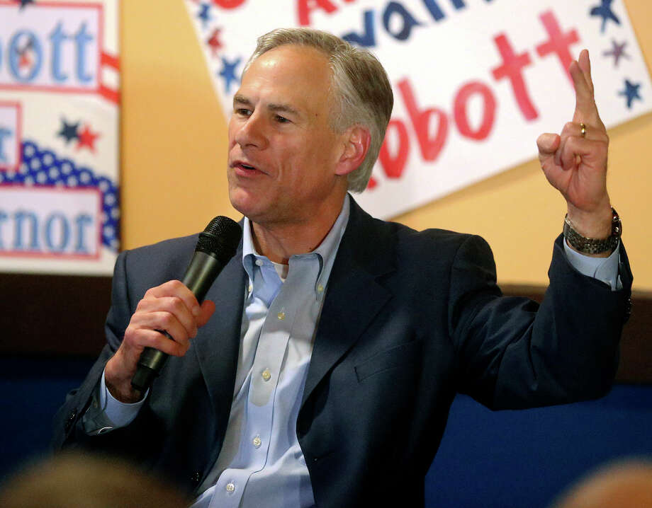 Attorney General Greg Abbott leads a get out the vote rally at Rita's on the River on February 26, 2014. Photo: For The San Antonio Express-News
