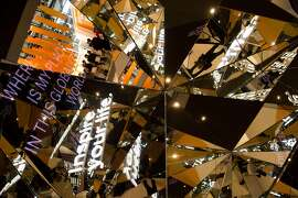 Kaleidoscopic mirrors reflect slogans and fair visitors at the stand of German software giant SAP at the 2014 CeBIT computer technology trade fair on March 10, 2014 in Hanover, central Germany. Great Britain is partner country of the fair considered as the world's biggest high-tech fair running from March 10 to 14, 2014.     TOPSHOTS/AFP PHOTO/JOHN MACDOUGALLJOHN MACDOUGALL/AFP/Getty Images