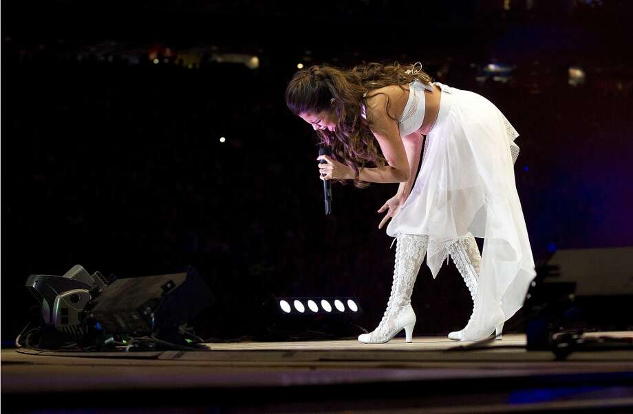 Selena Gomez performs during Rodeo Houston at the Houston Livestock Show and Rodeo at Reliant Stadium Sunday, March 9, 2014, in Houston. ( Johnny Hanson / Houston Chronicle ) Photo: Houston Chronicle