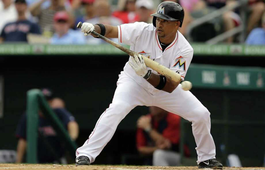 While three-time All-Star infielder Rafael Furcal has impressed the Marlins with his enthusiasm and energy, doubts persist about his hitting and his health. Photo: Jeff Roberson / Associated Press / AP