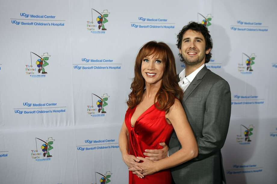 "Kathy Griffin and Josh Groban clown around and pose for the photographers as they arrived for the Painted Turtle and UCSF Medical Center benefit, ""A Starry Evening of Music Comedy, and Surprises,"" at Davies Symphony Hall in San Francisco, Calif., on Monday, March 10, 2014. Photo: Carlos Avila Gonzalez, The Chronicle"