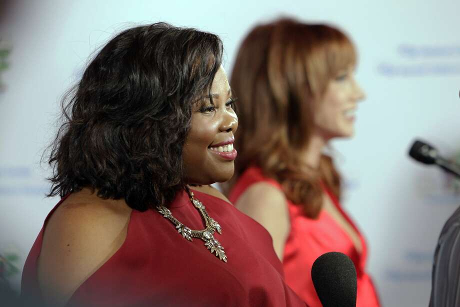 "Amber Riley is interviewed as she arrived for the Painted Turtle and UCSF Medical Center benefit, ""A Starry Evening of Music Comedy, and Surprises,"" at Davies Symphony Hall in San Francisco, Calif., on Monday, March 10, 2014. Photo: Carlos Avila Gonzalez, The Chronicle"