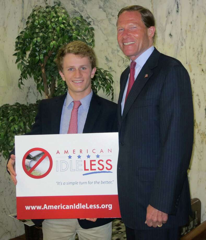 "New Canaan resident Reed Schultz, 18, has been named the American Lung Association's Youth Healthy Air Ambassador for his ""American Idle-Less"" campaign, which has been supported by U.S. Sen. Richard Blumenthal, D-Conn. Photo: Contributed Photo, Contributed / New Canaan News Contributed"