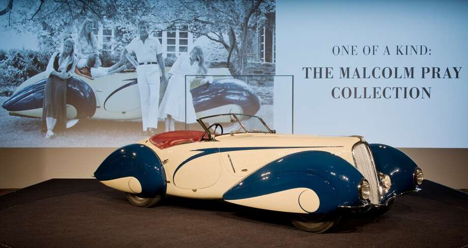 The hammer went down on Malcolm Prays beloved 1937 Delahaye 135 Competition Court Torpedo Roadster at $6.6 million. Photo: Darin Schnabel, 2014 Courtesy O