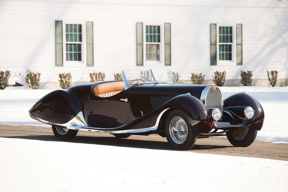 This 1937 Bugatti Type 57C roadster sold for $902,000 at Amelia Island. Photo: Darin Schnabel, 2014 Courtesy O