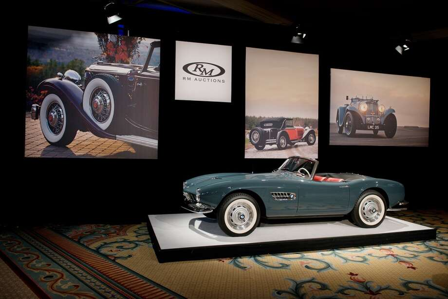The 1958 BMW 507 Series II Roadster sold for $2.42 million. Photo: Darin Schnabel, 2014 Courtesy O