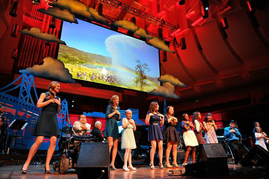 Kids from The Painted Turtle dance on stage at the UCSF Medical Center and The Painted Turtle Present A Starry Evening of Music, Comedy & Surprises at Davies Symphony Hall on March 10, 2014 in San Francisco, California. Photo: Steve Jennings, Getty Images For The Painted Tur