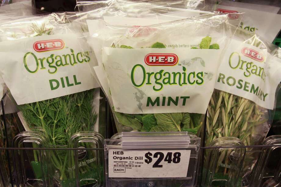 Fresh herbs are included in the H-E-B Organics line. Photo: Gary Fountain, Freelance / Copyright 2014 Gary Fountain.