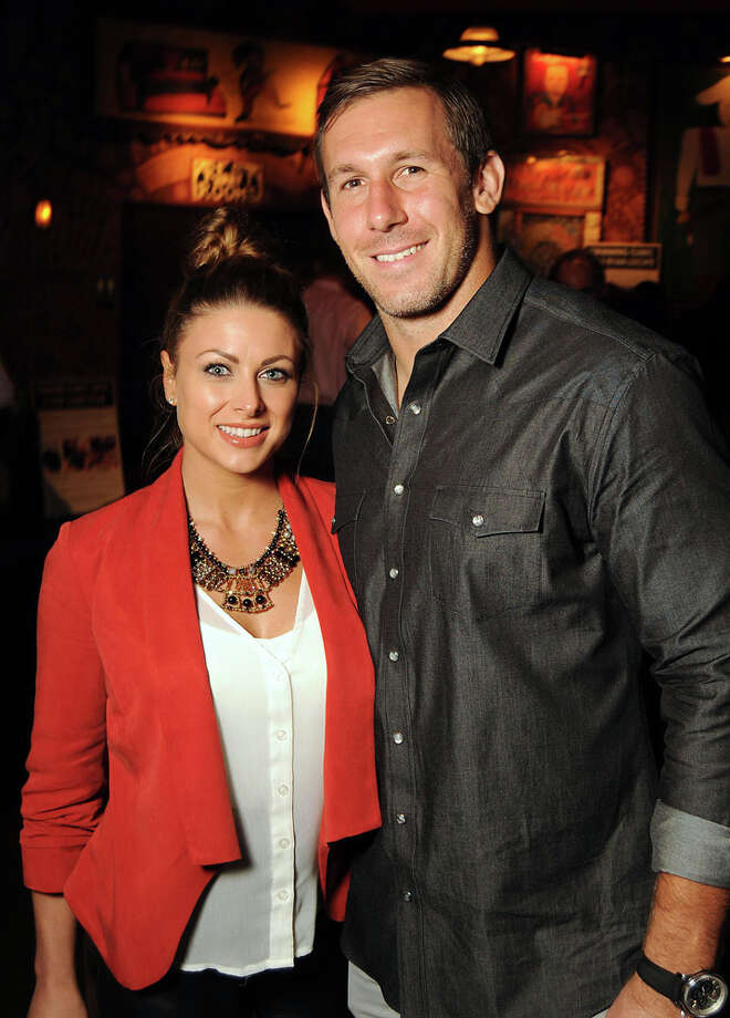 Rebecca and Owen Daniels at the Clay Walker and  Band Against MS event at the House of Blues Sept. 20 2013. Photo: Dave Rossman, For The Houston Chronicle / © 2013 Dave Rossman