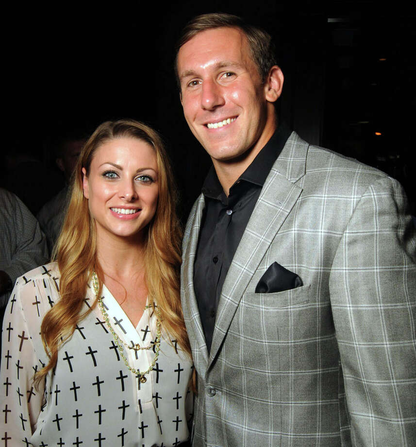 Owen Daniels and his wife Angela at his Fourth Annual Celebrity Waiter Night  benefitting the Owen Daniels Catching Dreams Foundation at Del Frisco's Double Eagle Steak House Sept. 16 2013. Photo: Dave Rossman, For The Houston Chronicle / © 2013 Dave Rossman