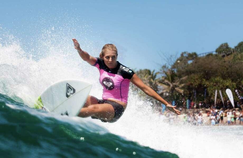 Five-time ASP Women's World Champion Stephanie Gilmore of Australia won the Roxy Pro Gold Coast at Snapper Rocks on March 11, 2014 in Gold Coast, Australia. Photo: Kelly Cestari, ASP Via Getty Images / 2014 Kelly Cestari