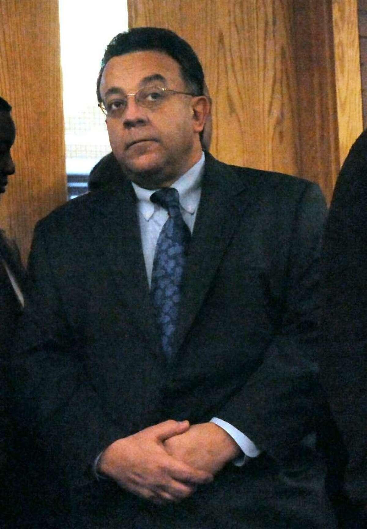 Joseph DaSilva Jr. waits in the courtroom of Danbury Superior Court, on Tuesday, Feb.9,2010.