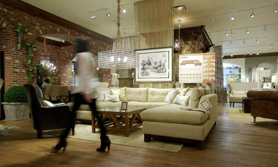 Exceptional Kim Slater Walks Across The Showroom Floor Of Arhaus, A New Furniture Store  In The