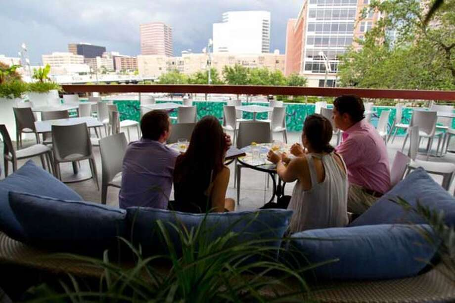 A view from the patio at RDG + Bar Annie.
