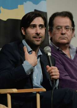 "AUSTIN, TX - MARCH 10:  Actor Jason Schwartzman (L) and music supervisor Randall Poster speak at the discussion for the film ""The Grand Budapest Hotel"" during hte 2014 SXSW Music, Film + Interactive Festival at Paramount Theatre on March 10, 2014 in Austin, Texas. Photo: Michael Buckner, Getty Images For SXSW / 2014 Getty Images"