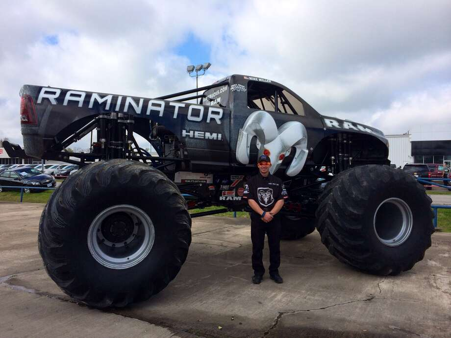 "Mike Miller dreamed of driving Monster Trucks when he was 6 years old. He will be crushing cars across Texas for the ""Raminator"" tour. Photo: Brittany Boskey"