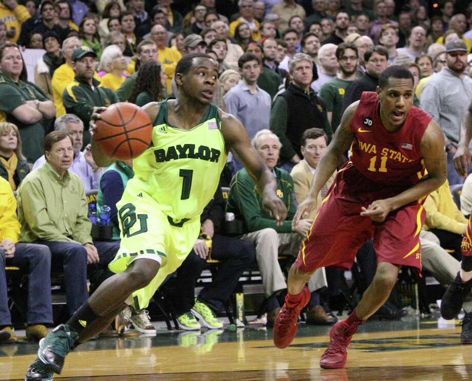 Baylor guard Kenny Chery, driving on Iowa State's Monte Morris on March 