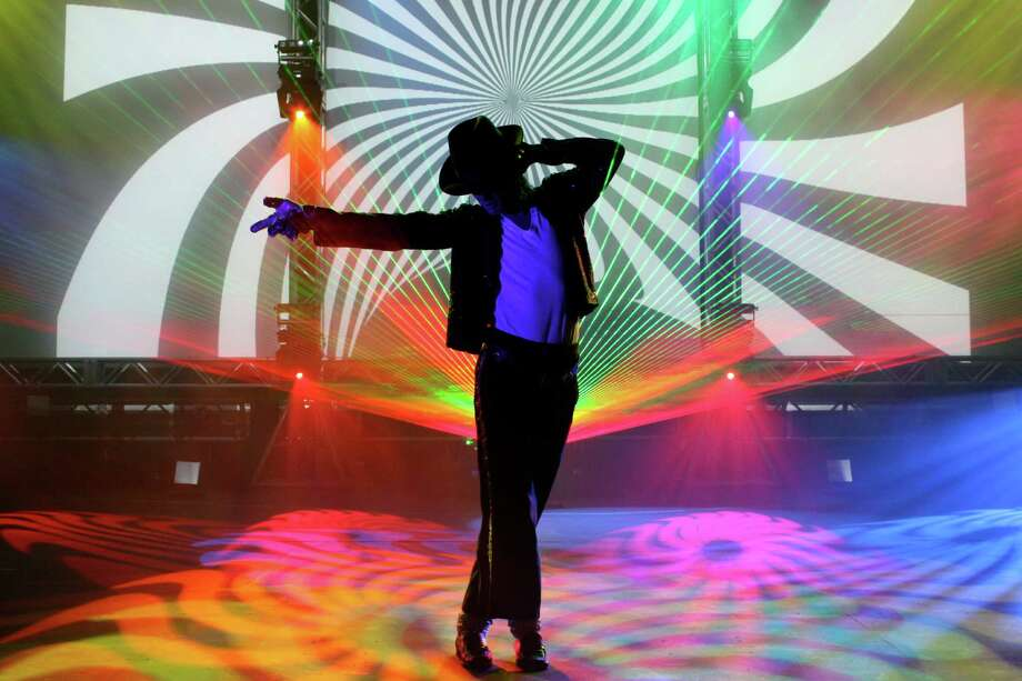 """Laser Spectacularís """"The Spirit of Michael Jackson"""" will be on stage at The Ridgefield Playhouse on Friday, March 21. The next day, Laser Spectacular will present two shows in celebration of Pink Floyd. Photo: Contributed Photo / The News-Times Contributed"""