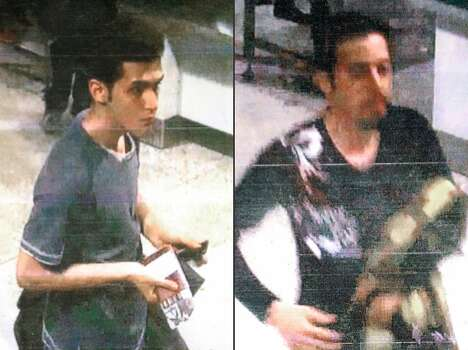This combination of images released by Malaysian police during a news conference in Sepang, Malaysia, on Tuesday, March 11, 2014, shows an Iranian identified as Pouria Nour Mohammad Mehrdad, who Malaysian authorities say is 19, although Interpol's information indicated an age of 18, left, and 29-year-old Iranian Delavar Seyedmohammaderza. The men boarded the now missing Malaysia Airlines jet MH370 with stolen passports. Photo: Uncredited, Associated Press
