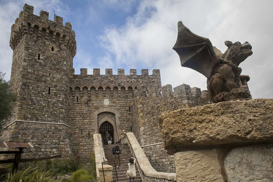 Outside view of Castello di Amorosa, a winery located in Calistoga that is a replica of a European medieval castle, on September 30th 2013. Photo: Sam Wolson, Special To The Chronicle