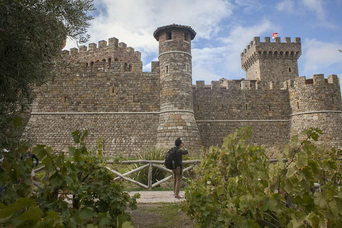 Outside view of Castello di Amorosa, a winery located in Calistoga that is a replica of a European medieval castle, on September 30th 2013.