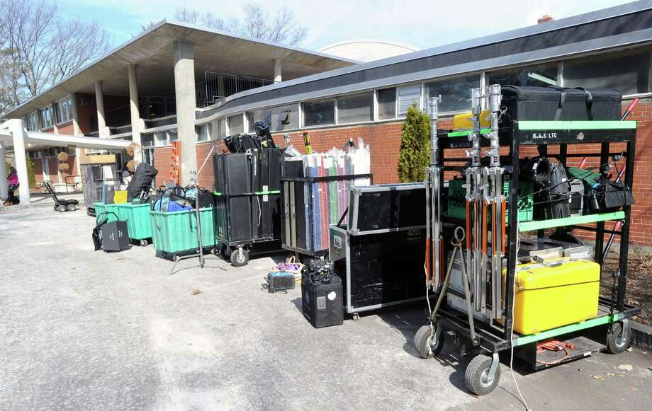 "The set of ""Boychoir,"" that was filming at the Greenwich Civic Center in Old Greenwich, Conn.,Tuesday afternoon, March 11, 2014. Photo: Bob Luckey / Greenwich Time"