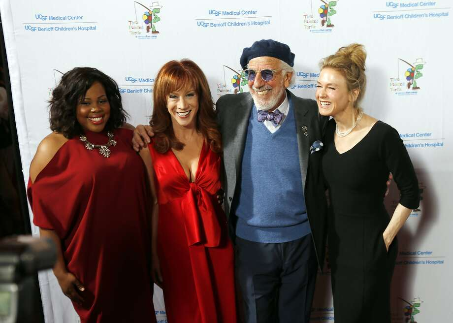 Amber Riley, Kathy Griffin, Lou Adler and Renée Zellweger at the benefit for Painted Turtle and Children's Hospital. Photo: Carlos Avila Gonzalez, The Chronicle