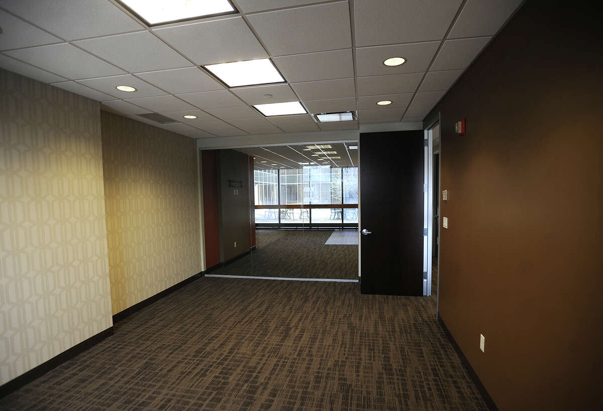 A finished off at one of Regus' new Connecticut locations at 8 Wright Street in Westport, Conn. on Tuesday, March 11, 2014. Regus is the world's largest provider of flexible workplaces.