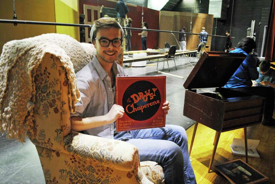 "Darien High School Theatre 308 member Dylan Gabriel plays ""Man in Chair"" in the production of ""The Drowsy Chaperone,"" which will be performed March 20 to 22. Photo: Contributed Photo, Contributed / Darien News"