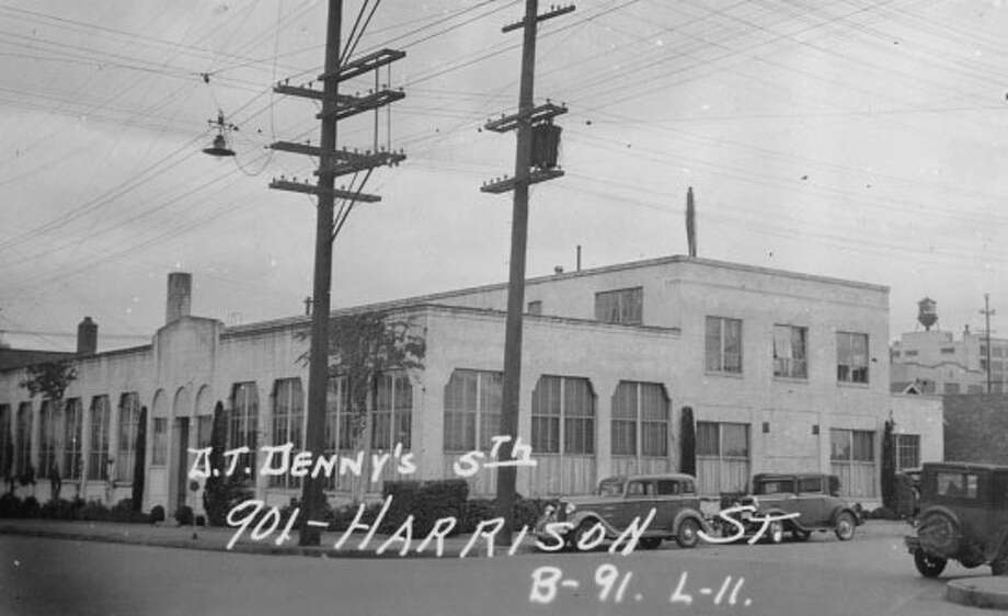 "901 Harrison Street – 1927 – Initially home to Pioneer Sand & Gravel Co., the building is described as ""a straightforward light industrial building with subtle ornament"" in the South Lake Union neighborhood. Photo: Photos Provided To Seattle Historic Preservation Office"