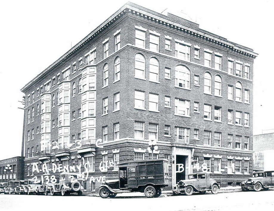 Castle Apartments – 1918 – This five-story apartment, built in the Georgian Revival style, was constructed after a fire swept through Belltown in 1910. It was built at the behest of Ewell Uden, a Texan stonecutter who made his living making gravestones; Uden lived in the building until his death. Photo: Photos Provided To Seattle Historic Preservation Office