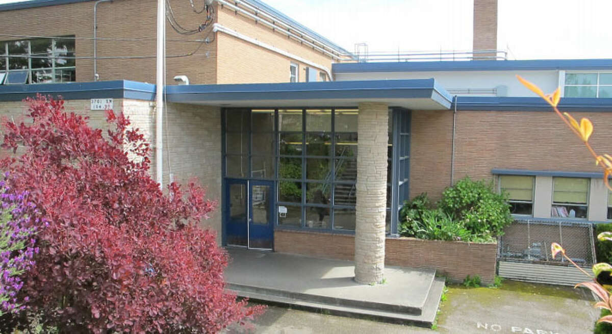 Arbor Heights Elementary School - 1949-1958 - Located in the southwestern corner of West Seattle, the school was designed with an eye toward cheap, easy construction following the post-World War II boom in the area and built as a