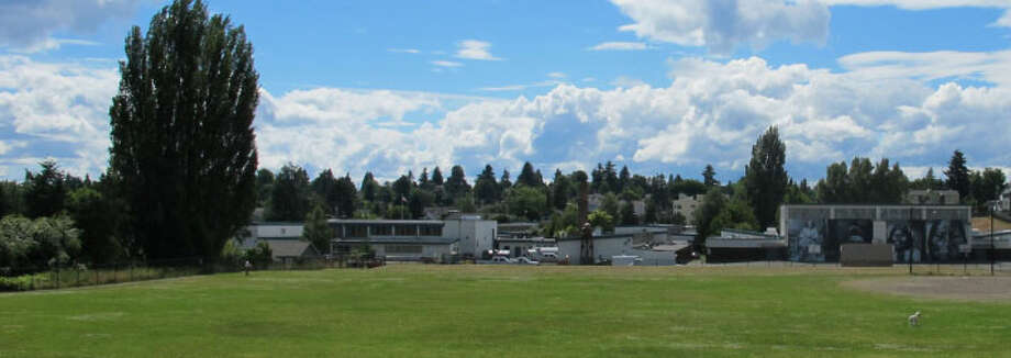 Woodrow Wilson Junior High School – 1952-1958 – Formerly the site of a dairy, the school was built by the Shoreline School District as the Licton Springs neighborhood was taking shape. It was annexed into the Seattle School District shortly after it was built. It was once home to the Indian Heritage School, a once popular program that has since faded to obscurity; as of 2012, students at the school were using a largely digital curriculum. Photo: Photos Provided To Seattle Historic Preservation Office