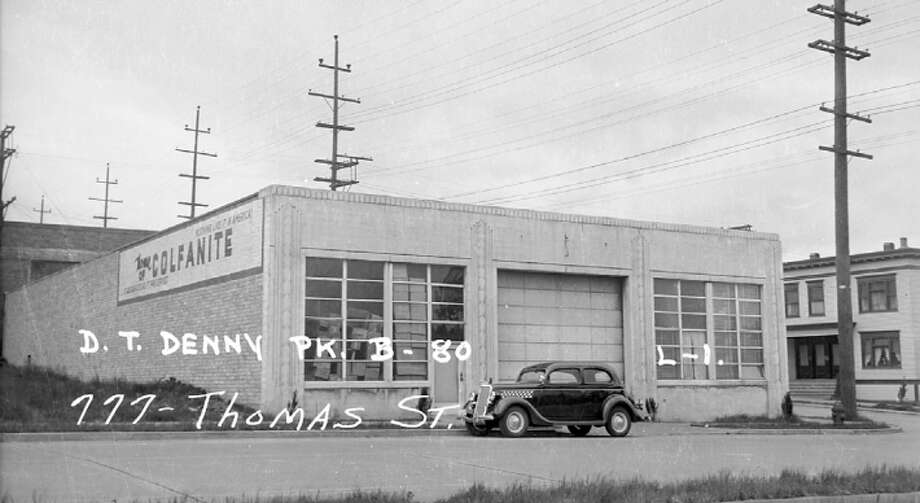 777 Thomas Street – Built 1931 – Advocates for this garage contend its Art Deco style makes the building a South Lake Union landmark. Photo: Photos Provided To Seattle Historic Preservation Office