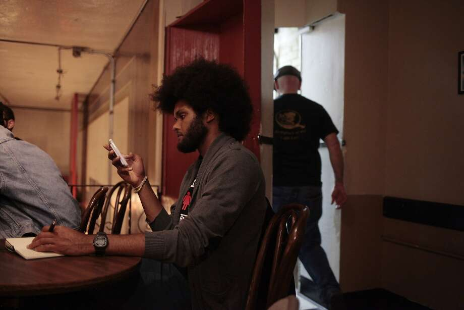 Above: Marcel Jones is chairman of the Black Student Union at UC Berkeley. Photo: James Tensuan, Special To The Chronicle