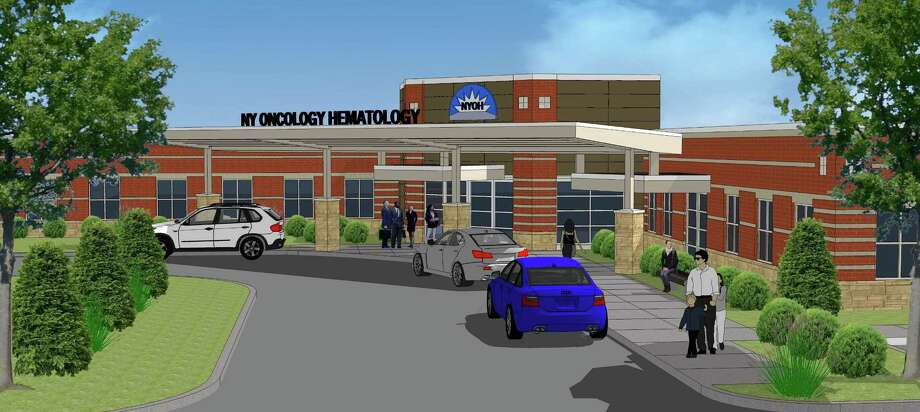 An artist's rendering depicts a new $20 million cancer treatment center planned for Clifton Park.