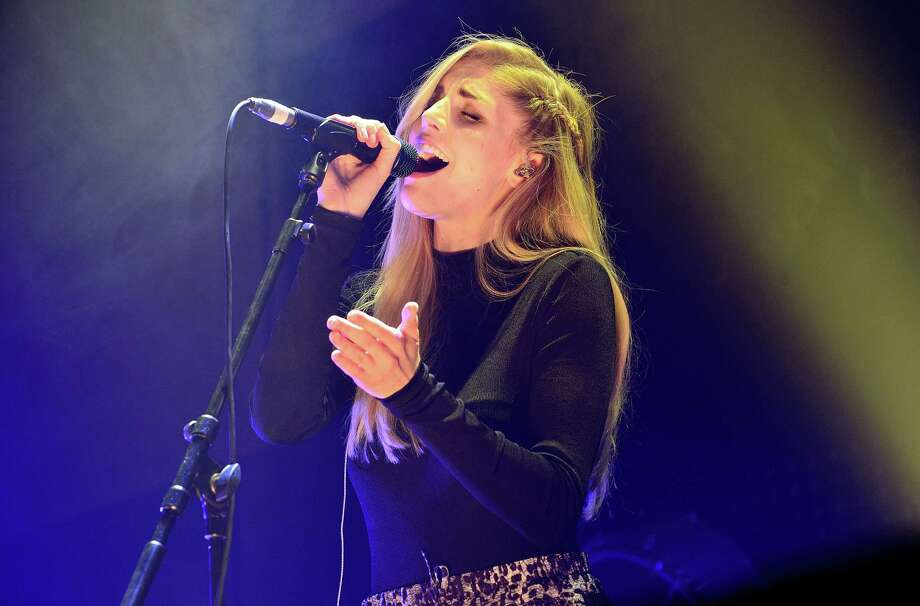 British band London Grammar with vocalist Hannah Reid will perform Thursday at Filter Magazine's Showdown at Cedar Street in the Cedar Street Courtyard, 208 W. 4th St. in Austin. Photo: Getty Images / 2014 Gus Stewart