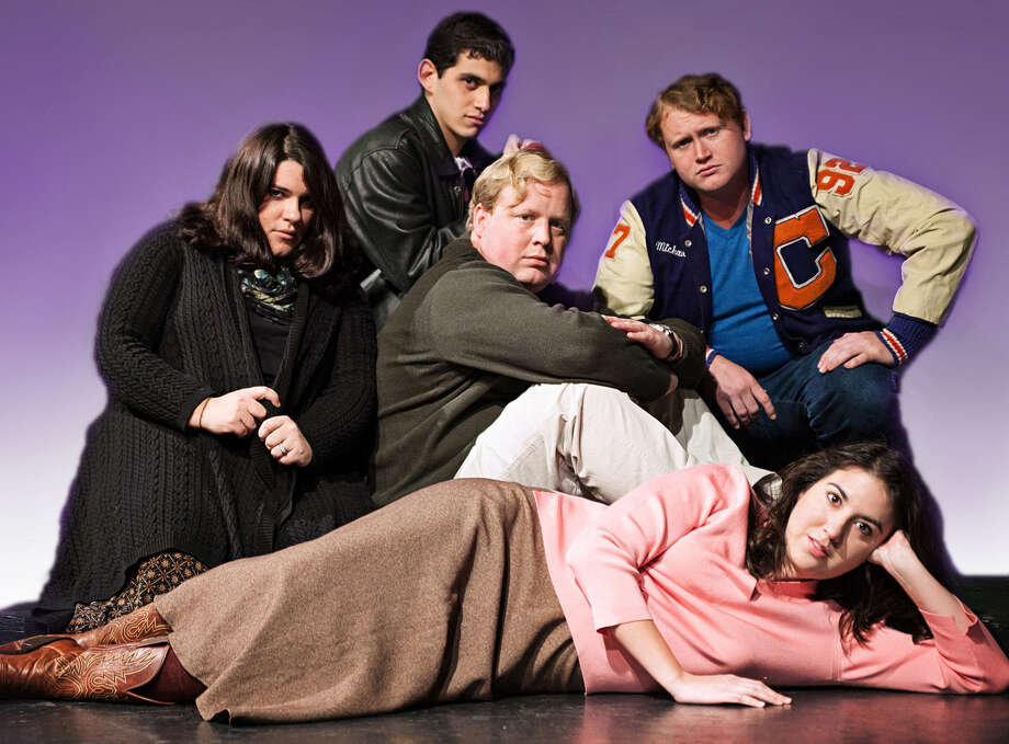 "The Rose Theatre's staging of 'The Breakfast Club: Live"" features (clockwise from left), Jessie Rose, Rocky Bronco, Chris Manley, Jon Smith and Leslie Lube. Photo: Courtesy Karyn Collins / (C) Karyn Collins_Mythology Anthology"